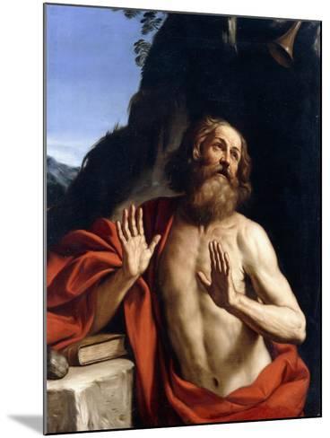 Saint Jerome in the Wilderness-Giovanni Francesco Barbieri-Mounted Giclee Print