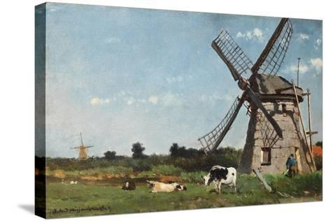 The Mill, Ca. 1873-Jan Hendrik Weissenbruch-Stretched Canvas Print