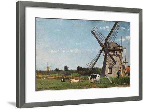 The Mill, Ca. 1873-Jan Hendrik Weissenbruch-Framed Art Print