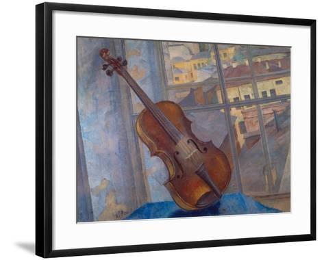 The Violin, 1918-Kosjma Ssergej Petroff-Wodkin-Framed Art Print
