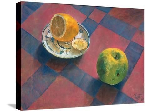 An Apple and a Lemon, 1930-Kosjma Ssergej Petroff-Wodkin-Stretched Canvas Print
