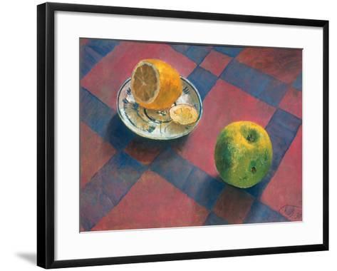 An Apple and a Lemon, 1930-Kosjma Ssergej Petroff-Wodkin-Framed Art Print