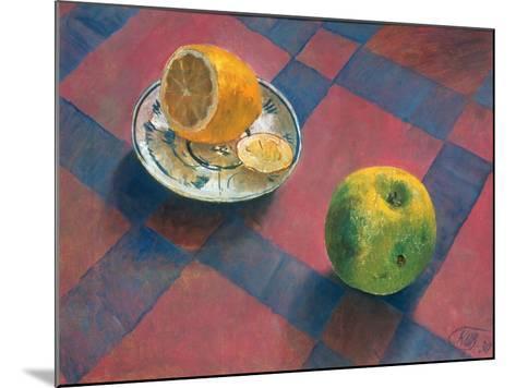 An Apple and a Lemon, 1930-Kosjma Ssergej Petroff-Wodkin-Mounted Giclee Print