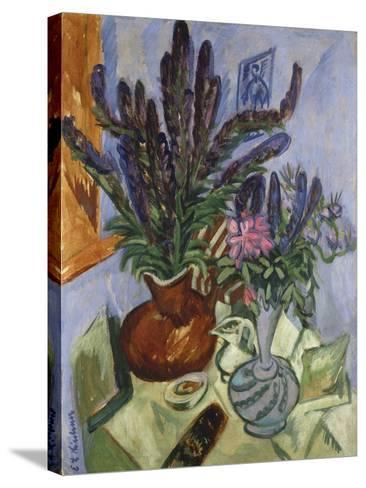 Still Life with Vase of Flowers, 1912-Ernst Ludwig Kirchner-Stretched Canvas Print