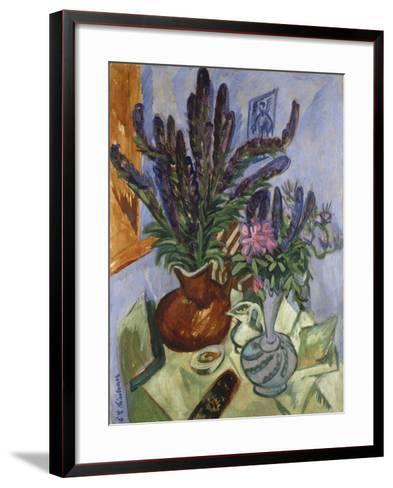 Still Life with Vase of Flowers, 1912-Ernst Ludwig Kirchner-Framed Art Print