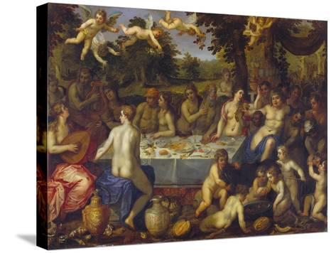 The Banquet of the Gods-Hendrick Van Balen-Stretched Canvas Print