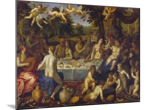 The Banquet of the Gods-Hendrick Van Balen-Mounted Giclee Print