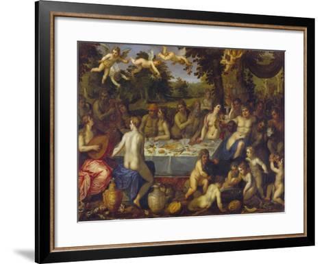 The Banquet of the Gods-Hendrick Van Balen-Framed Art Print