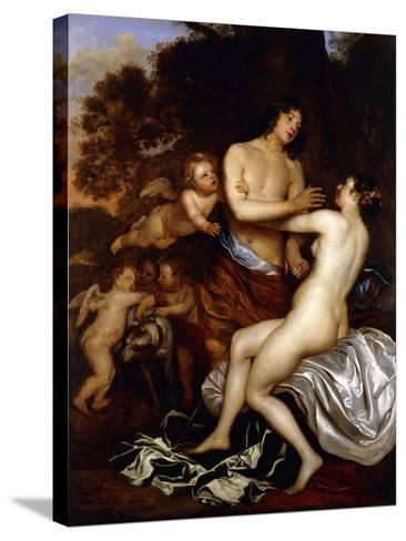 Venus and Adonis-Jan Mytens-Stretched Canvas Print