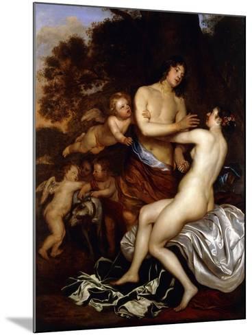 Venus and Adonis-Jan Mytens-Mounted Giclee Print