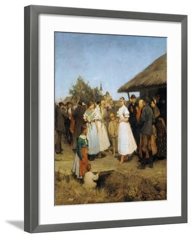 A Village Wedding in Hungary-Lajos Deák-Ebner-Framed Art Print