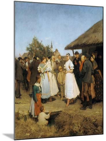 A Village Wedding in Hungary-Lajos Deák-Ebner-Mounted Giclee Print