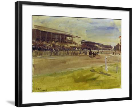 Horse Racing Track in Ruhleben, 1920-Max Slevogt-Framed Art Print