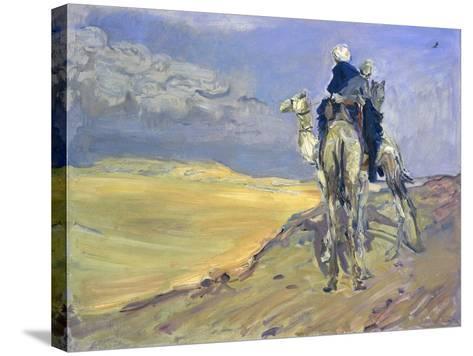 Sandstorm in the Libyan Desert, 1914-Max Slevogt-Stretched Canvas Print