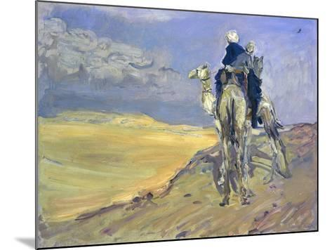 Sandstorm in the Libyan Desert, 1914-Max Slevogt-Mounted Giclee Print