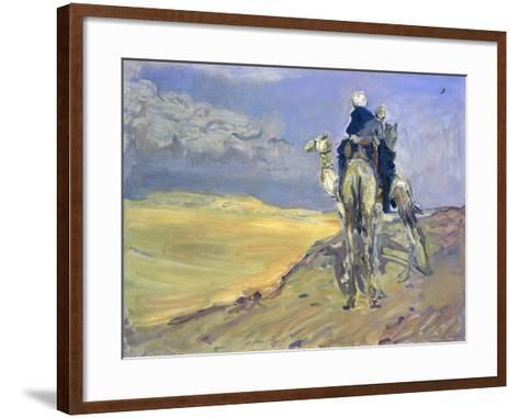 Sandstorm in the Libyan Desert, 1914-Max Slevogt-Framed Art Print