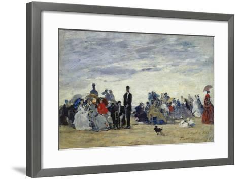 Am Strand Von Trouville, 1865-Eug?ne Boudin-Framed Art Print
