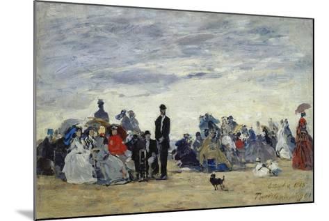 Am Strand Von Trouville, 1865-Eug?ne Boudin-Mounted Giclee Print
