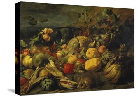 Still Life of Fruits and Vegetables, 1620s-Frans Snyders-Stretched Canvas Print