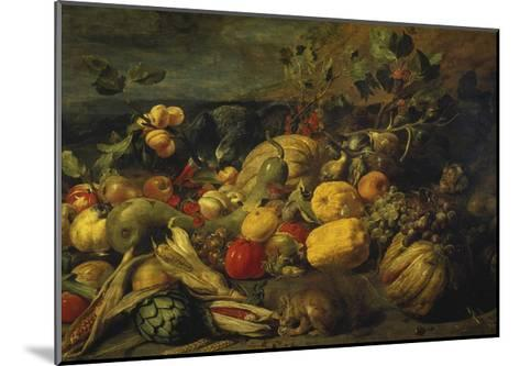 Still Life of Fruits and Vegetables, 1620s-Frans Snyders-Mounted Giclee Print