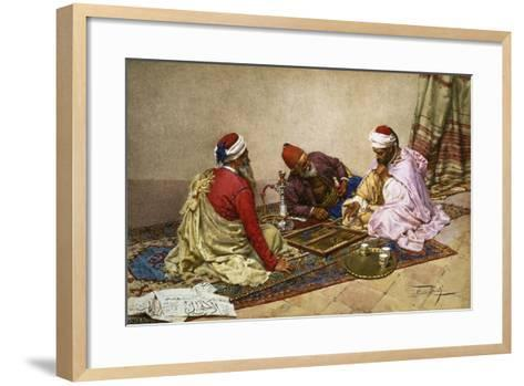 The Backgammon Players-Giulio Rosati-Framed Art Print