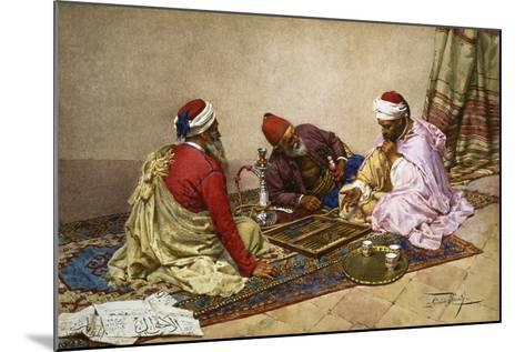 The Backgammon Players-Giulio Rosati-Mounted Giclee Print