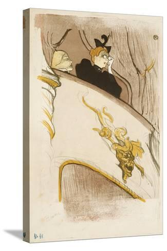 The Box of the Golden Mask, (Cover of a Programme for 'Le Missionaire'), 1894-Henri de Toulouse-Lautrec-Stretched Canvas Print