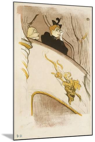 The Box of the Golden Mask, (Cover of a Programme for 'Le Missionaire'), 1894-Henri de Toulouse-Lautrec-Mounted Giclee Print