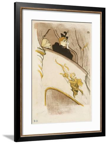 The Box of the Golden Mask, (Cover of a Programme for 'Le Missionaire'), 1894-Henri de Toulouse-Lautrec-Framed Art Print