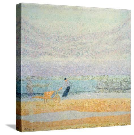 Fisherman Catching Mussels, 1891-Jan Toorop-Stretched Canvas Print
