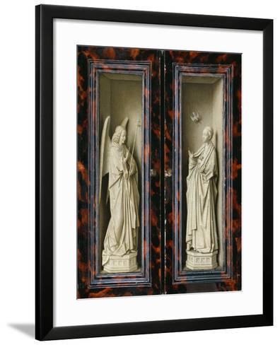 Winged Altarpiece 1437, Exterior Wings: Annunciation-Jan van Eyck-Framed Art Print