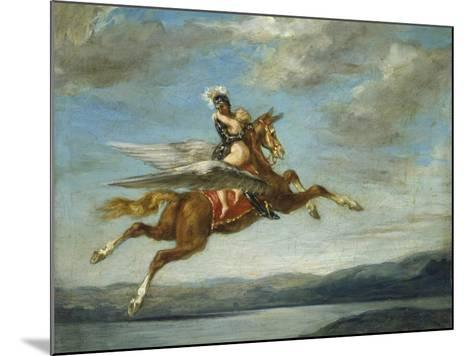 Roger and Angélique, C. 1860-Eugene Delacroix-Mounted Giclee Print