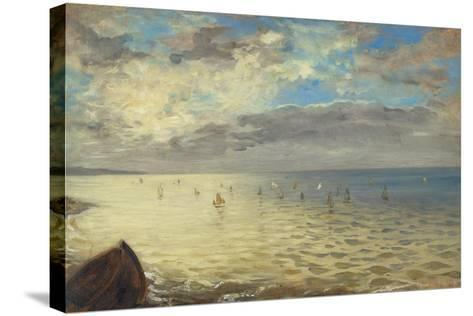 Sea Viewed from the Heights of Dieppe, 1852-Eugene Delacroix-Stretched Canvas Print