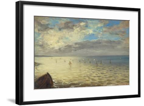 Sea Viewed from the Heights of Dieppe, 1852-Eugene Delacroix-Framed Art Print