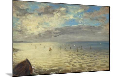 Sea Viewed from the Heights of Dieppe, 1852-Eugene Delacroix-Mounted Giclee Print