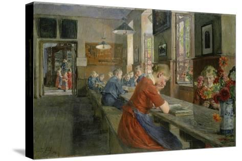 In an Orphanage, Luebeck, 1894-Gotthard Kuehl-Stretched Canvas Print
