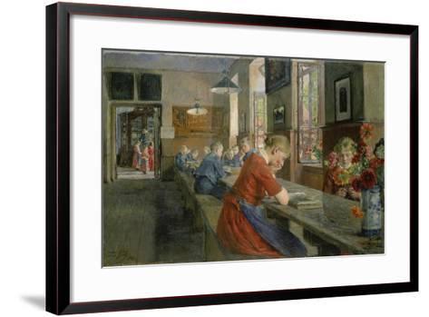 In an Orphanage, Luebeck, 1894-Gotthard Kuehl-Framed Art Print