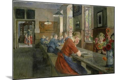 In an Orphanage, Luebeck, 1894-Gotthard Kuehl-Mounted Giclee Print