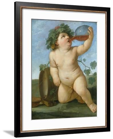 Drinking Bacchus Portrayed as a Boy, C. 1623-Guido Reni-Framed Art Print