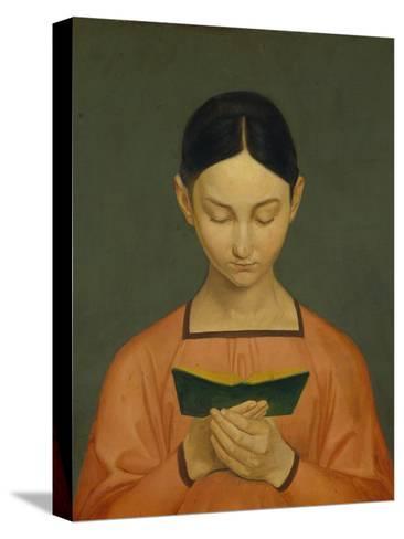 Reading Girl, C. 1828-Gustav Adolph Hennig-Stretched Canvas Print
