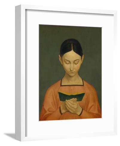 Reading Girl, C. 1828-Gustav Adolph Hennig-Framed Art Print