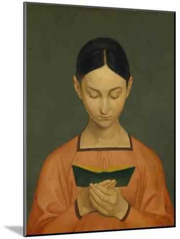 Reading Girl, C. 1828-Gustav Adolph Hennig-Mounted Giclee Print
