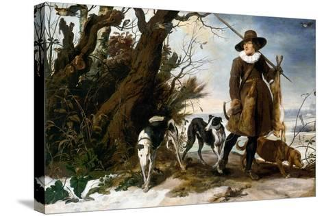 Winter Landscape with Hunter, 1624-Jan Wildens-Stretched Canvas Print