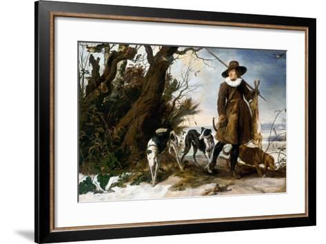 Winter Landscape with Hunter, 1624-Jan Wildens-Framed Art Print