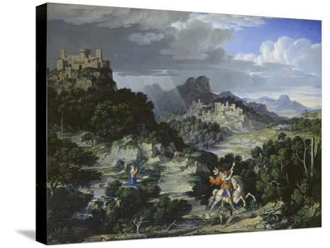 Landscape with St, George, 1807-Joseph Anton Koch-Stretched Canvas Print