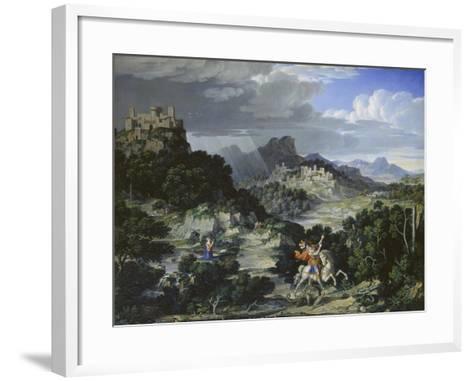 Landscape with St, George, 1807-Joseph Anton Koch-Framed Art Print