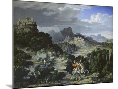 Landscape with St, George, 1807-Joseph Anton Koch-Mounted Giclee Print