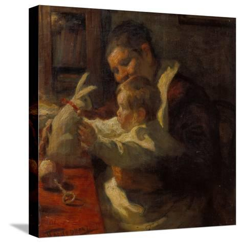 Bunny, Nanny and Child, 1901-Leonid Ossipowitsch Pasternak-Stretched Canvas Print