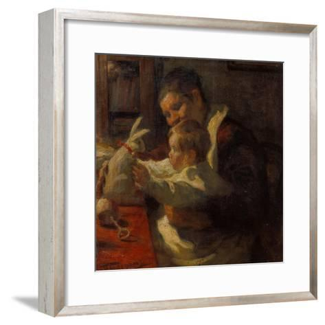 Bunny, Nanny and Child, 1901-Leonid Ossipowitsch Pasternak-Framed Art Print