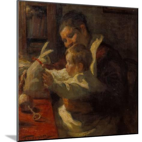 Bunny, Nanny and Child, 1901-Leonid Ossipowitsch Pasternak-Mounted Giclee Print